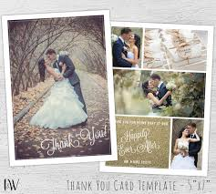 wedding thank you cards photo photoshop template wedding