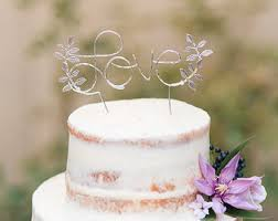 silver cake topper etsy