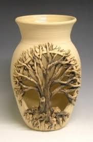 tree luminary ceramic pottery accessories