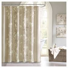 Shower Curtain To Window Curtain Taupe Shower Curtain Target