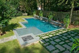 atlanta pool builder geometric in ground luxury swimming pool photos