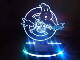 Man Cave Led Lighting by Ghostbusters Inspired Slimer Movie Logo Acrylic Light Display