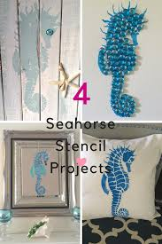 Home Decor Mom Blogs by Four Easy Diy Projects Using Seahorse Stencil Our Crafty Mom