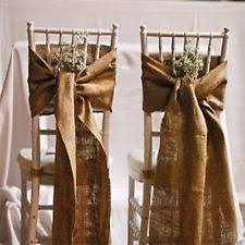 burlap chair sashes burlap chair sashes wedding supplies ebay