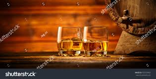 whiskey photography two glasses whiskey ice cubes served stock photo 533737063