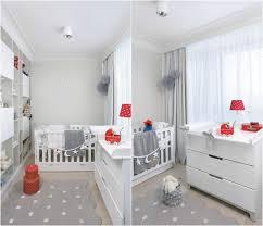 chambre bébé grise et design interieur decoration chambre bebe grise meubles blancs tapis
