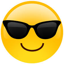 oversized sunglasses cutout emoji by build a head