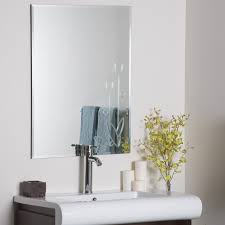 Accent Wall Rules by Furniture Frameless Wall Mirror With Flower Accent For Home
