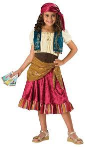 new gypsy child kids fortune teller costume fancy dress up