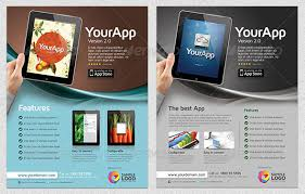 product flyer template download multipurpose mobile app flyer