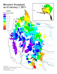 Snow Map Mountain Snowpack Map Western Us