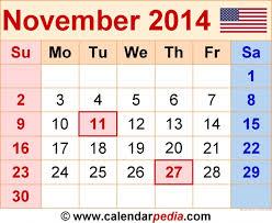 when is thanksgiving 2014 calendar printable calendar 2017
