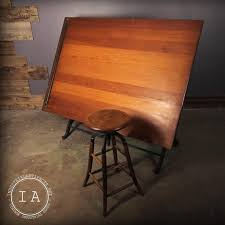 Vintage Wood Drafting Table Vintage Industrial Cast Iron Drafting Table The Frederick Post