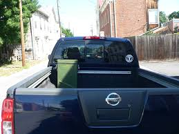 nissan frontier utili track truck bed storage box ammo can