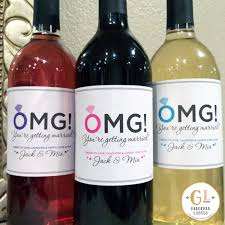 appropriate engagement party gifts omg you re getting married label engagement party labels