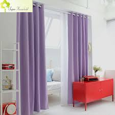 Purple Curtains Korean Physical Blackout Curtains For Window Modern Light Purple