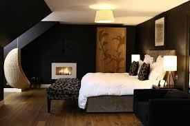 bedroom elegant bedroom design using dark brown bed frame and