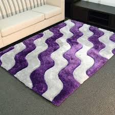 Purple Area Rugs 3d Shaggy 802 Abstract 2 Tone Wavy Purple Area Rug 5 X 7 5