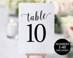 free table number templates wedding templates etsy nz