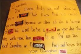 candy bar card for grandma