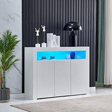 white gloss kitchen unit doors homesailing living room sideboard storage cabinet white high gloss with led light modern kitchen unit cupboard buffet wooden storage display cabinet