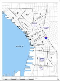 Seattle Districts Map by Parking Inventory Puget Sound Regional Council