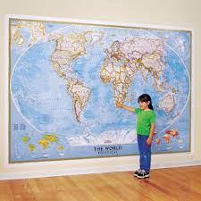 wall maps world classic wall map mural national geographic store