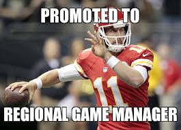 Alex Smith Meme - alex smith promoted to regional game manager