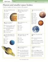 space sciences printables activities and lessons teachervision
