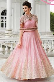 party wear dress silk party wear gown in baby pink colour