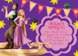 Invitation Card 7th Birthday Boy Tangled Rapunzel Purple Birthday Invite Card Can Be Personalized