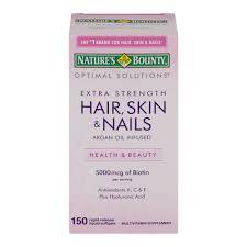 nature u0027s bounty optimal solutions hair skin u0026 nails dietary