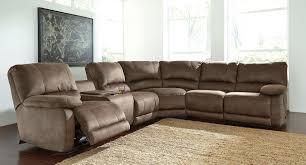 couch taupe seamus taupe modular power reclining sectional signature design by