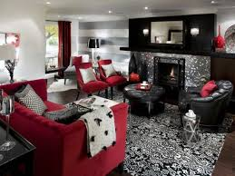 red and black living room designs living room design black and white modern living room decorating