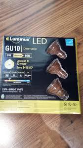 luminus gu10 led bulbs ontario 4 66 per bulb 3 pack