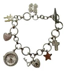 silver plated charm bracelet images Folli follie folli follie silver plated charm bracelet watch jpg