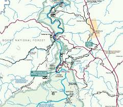 map of ky and surrounding areas kentucky trails big south fork national river recreation area