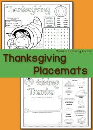 printable thanksgiving placemats mamas learning corner