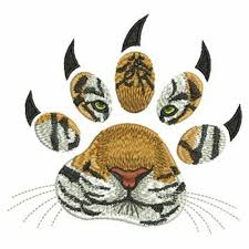 tiger paws tear scratch embroidery designs fill by lunaembroidery