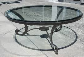 round glass top coffee table wrought iron round designs