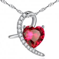 pink ruby necklace images Pws043cr sterling silver moon style heart pendant created ruby jpg