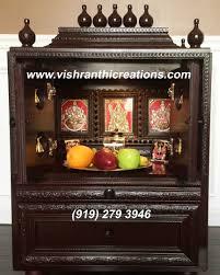 Interior Design For Mandir In Home Vishranthi Creations Pooja Mandir Tanjore Paintings In Usa