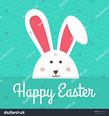 greeting card white easter rabbit funny stock vector 618173711