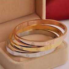 titanium bangle bracelet images Titanium love bracelet cutesu jpg