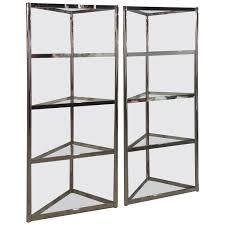 How Do You Pronounce Etagere Milo Baughman Vintage Pair Of Chrome Etageres Shelves Corner