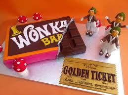 Willy Wonka Chocolate Bar Novelty Cake With Oompa Loompas
