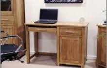 Small Maple Computer Desk Brown Stained Maple Wood Computer Table With Drawer And V Shape