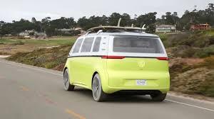 volkswagen electric bus volkswagen electric kombi van i d buzz ev concept youtube