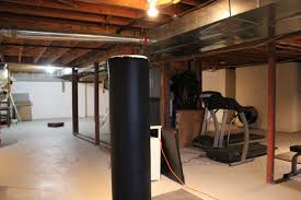 homely idea finished basement with exposed ceiling imposing design