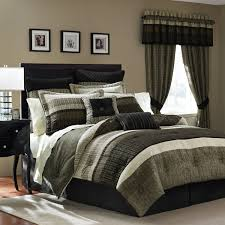 cheap master bedroom design with martha stewart curtains and modern